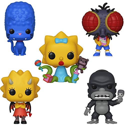 All Simpsons Halloween Episodes (Funko Animation: Pop! Simpsons Series 3 Collectors Set - Panther Marge, Fly Boy Bart, Demon Lisa, King Homer, Alien)