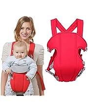 100 bomull babybärare multihållning alla bärpositioner ergonomisk bebisväska lätt och andas för baby 3-16 månader Röd