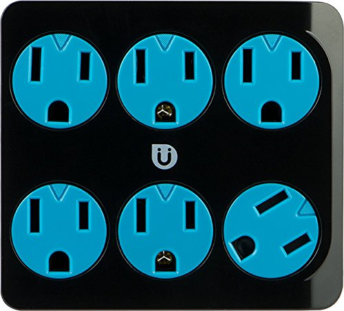 Uber 25112 Tap, 6 Outlets, Grounded, Safety Covers