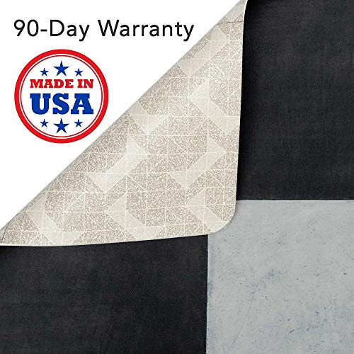 Vinyl Floor Mat, Durable, Soft and Easy to Clean, Ideal for Highchair Floor Mat, Mudroom Mat or Play Mat. Freestyle, Courtyard Versailles Pattern (4 ft x 4 ft)