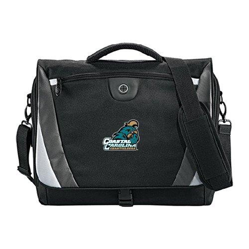 - Coastal Carolina Slope Black/Grey Compu Messenger Bag 'Official Logo'