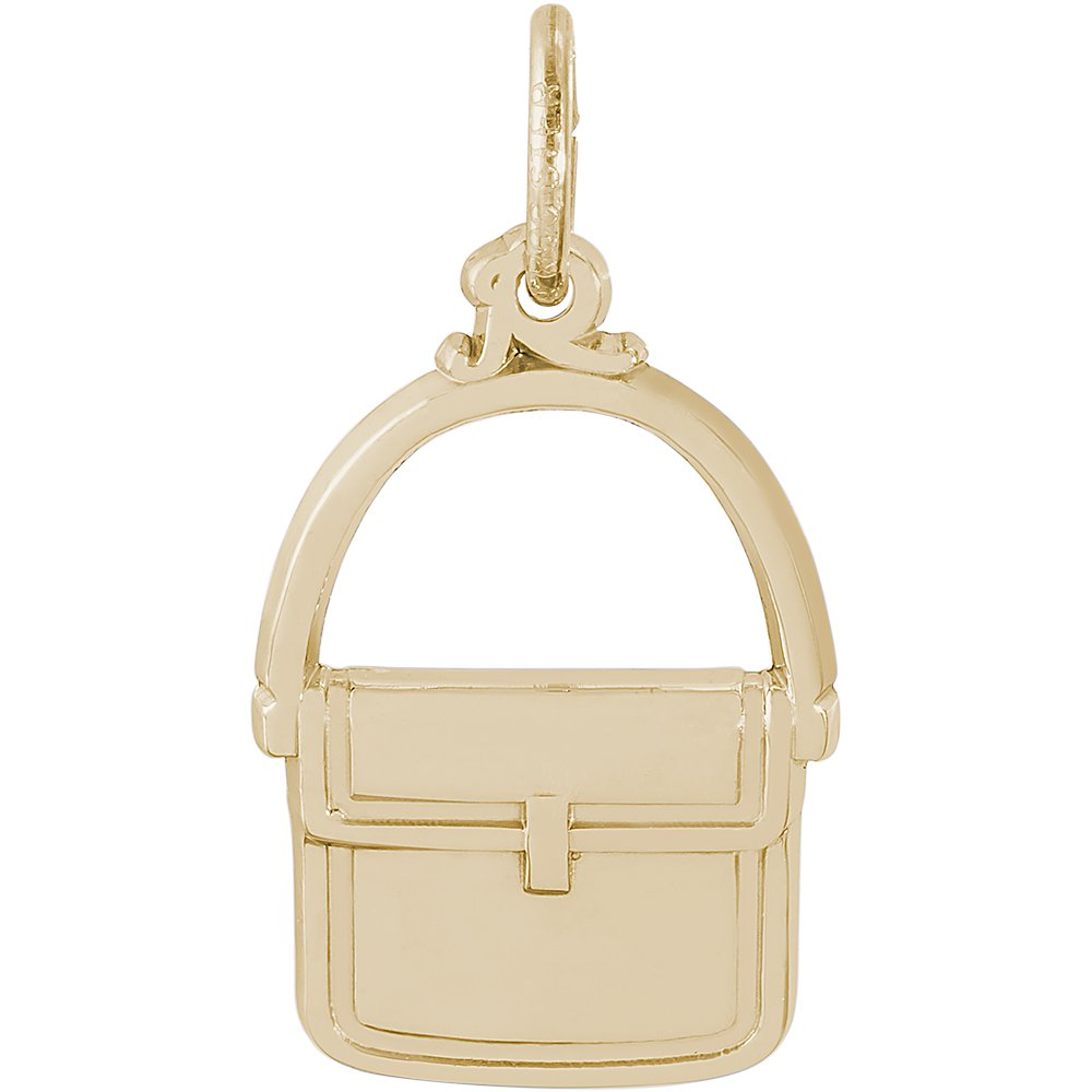 Rembrandt Charms 10K Yellow Gold Messenger Purse Charm (0.72 x 0.52 inches)
