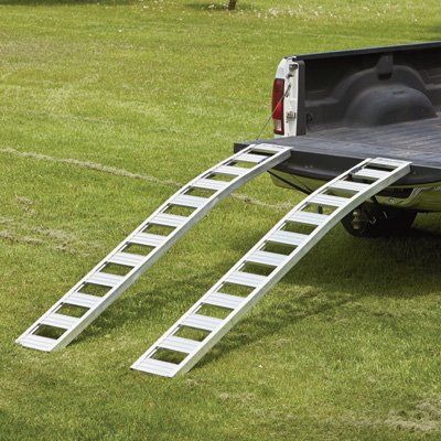 - Ultra-Tow Non-Folding Arched Aluminum Loading Ramp Set - 1500-Lb. Capacity, 90in.L