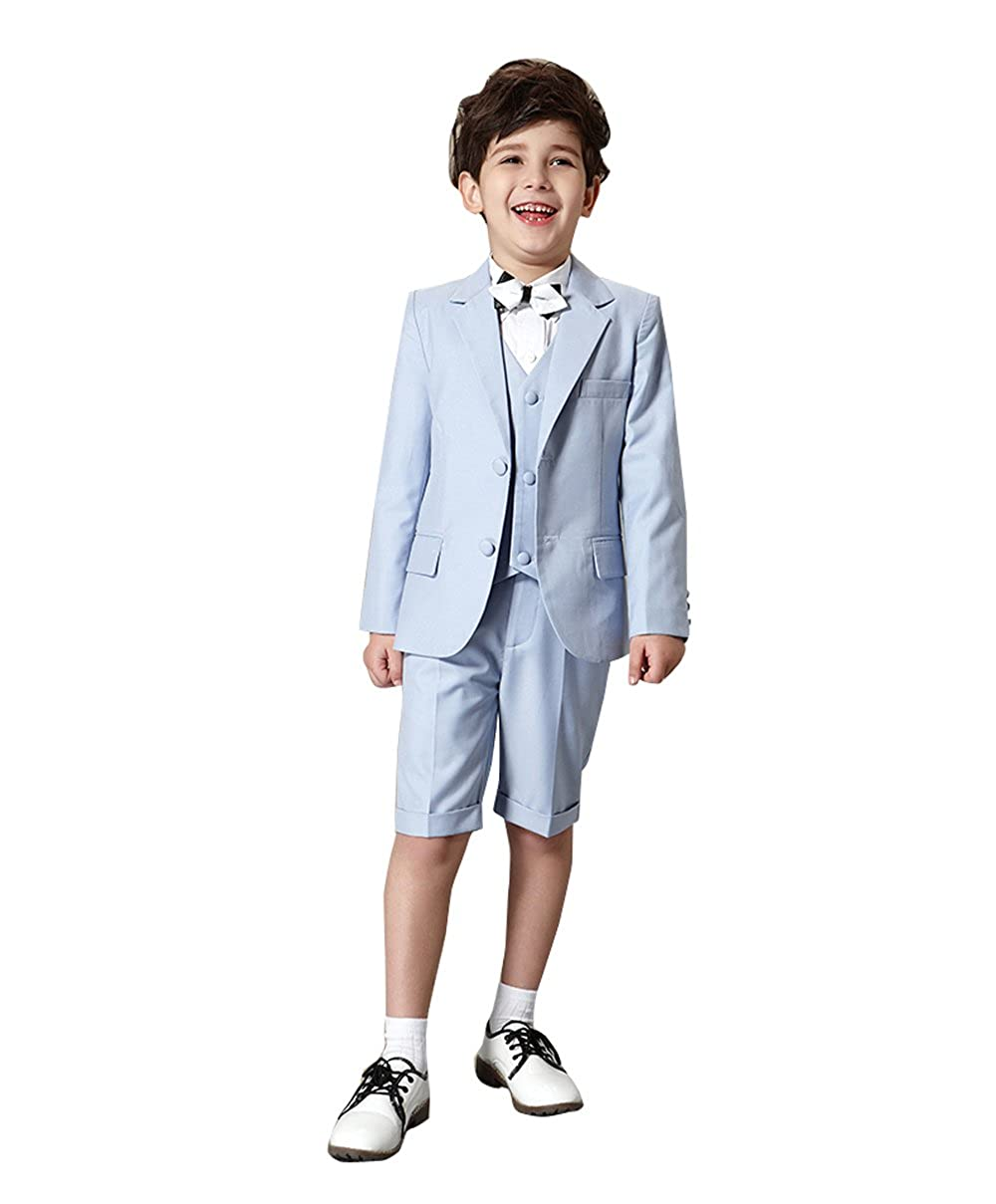Kelaixiang Boys 3pcs Slim Fit Suits Two Button Suits for Kids Formal Ceremony Wedding Party Tuxedos