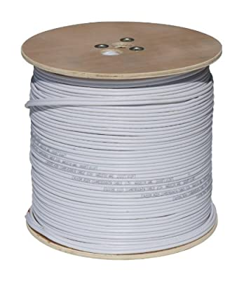 Cop Security 95S-1000W RG59 Siamese Cable with 18/2 Power and 24/2 DATA, 1000-Feet (White)
