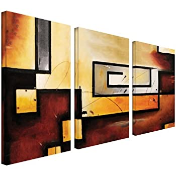 artwall 3 piece abstract modern gallery wrapped canvas art by jim morana 36 by 54. Black Bedroom Furniture Sets. Home Design Ideas