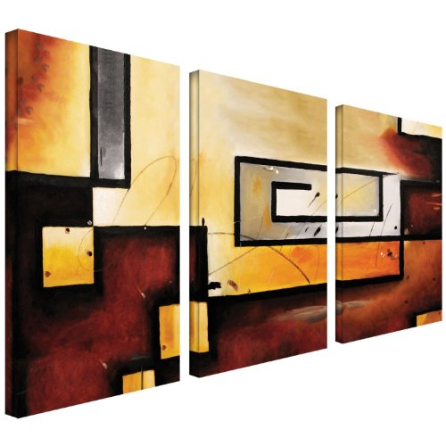 Art Wall Abstract Modern Gallery Wrapped Canvas Art by Jim Morana, 24 by 36-Inch
