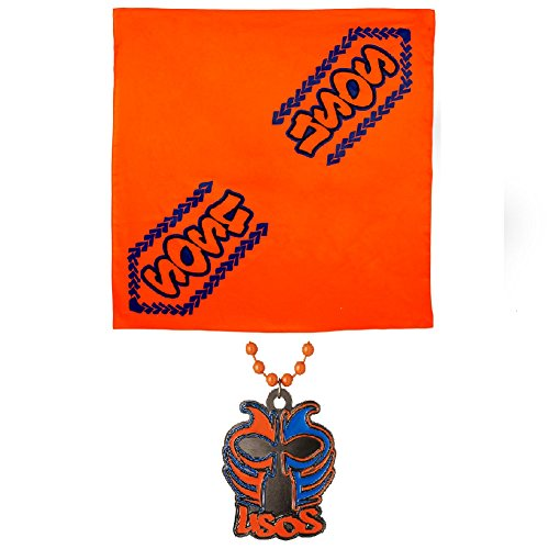 (WWE Authentic The Usos USO Crazy Bandana & Face Paint Pendant)