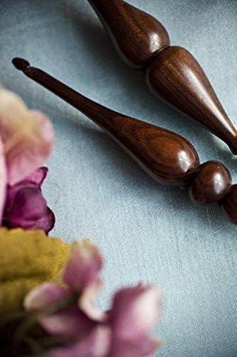 G 4.0 mm Tulipwood :Alpha Series Wood Crochet Hook: Furls