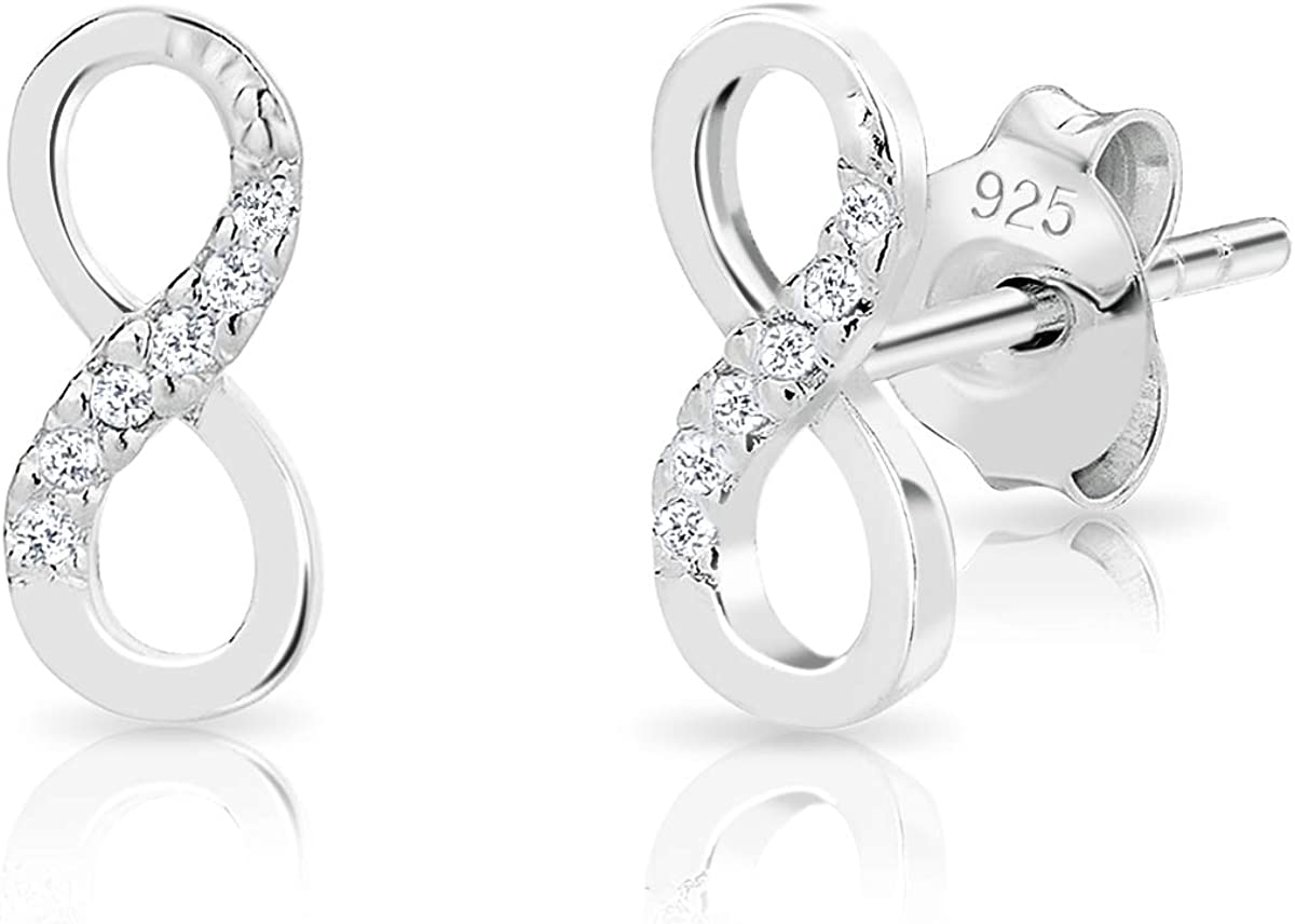 925 Sterling Silver Cubic Zirconia Cz Trinity Post Stud Earrings Fine Jewelry Gifts For Women For Her