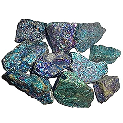 Sublime Gifts Chalcopyrite Peacock Ore A Grade from Mexico ( 2 Ounce Bag ) Crystal Healing Gemstone Wicca and Reiki Stones Small Sized Pieces: Toys & Games