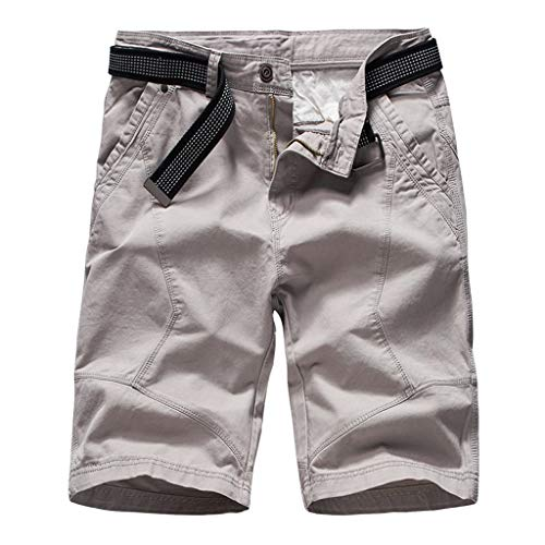OUBAO Shorts for Men Pants Mens Casual Cargo Athletic with Pockets Solid Outdoors Work Trouser Short Pants
