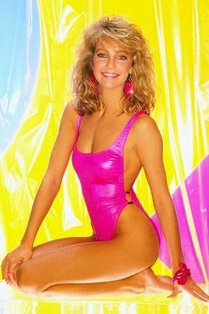 Heather Locklear Leggy Beautiful Pin Up Pose In Bikini