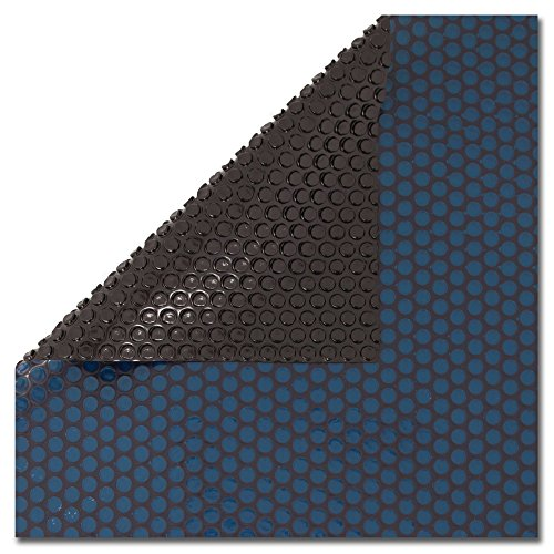 In The Swim 16 Foot Round Swimming Pool Solar Blanket Cover - 12 Mil Blue/Black