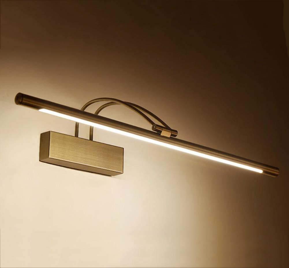 LED-Spiegel-Lichter, Badezimmer-Acrylaugen-Sorgfalt-Wandlampe, wasserdichter und Anti-Nebel Spiegel-Frontlicht-Lampe, 240 Grad-Justage YDYG (Farbe   Bronze-3 dimming-81cm)