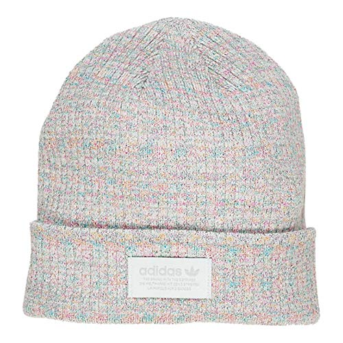 (adidas Women's Originals Rib Beanie, White/Multi/Clear Grey, One Size)