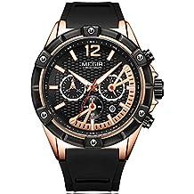 MEGIR Men's Sports Silicone Quartz Wrist Watches Army Racing Chronograph Luminous Stopwatch for Man