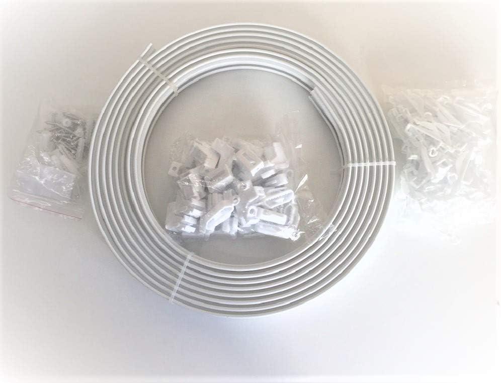 Remi Tools Ltd Rail en plastique de rideau pour fen/êtres droites et fen/êtres en saillie 6 m