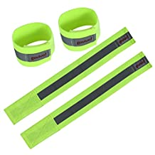 Reflective running gear | Use it as armbands or ankle bands or wrist bands – Set of two (One pair) – Reflective strips for more visibility