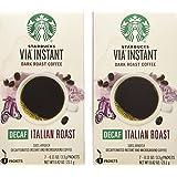 (2 Pack) Starbucks Via Ready Brew, Decaf Italian Dark Roast Instant Coffee, 7-Count each