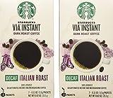Starbucks Via Ready Brew, Decaf Italian Dark Roast Instant Coffee, 7-Count each (2 Pack)