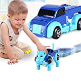 Jinjin Car Toy,Automatic Transform Dog Car Vehicle Clockwork Wind Up Toy For Kids Gift (A)