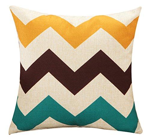 Colorful Geometric Print Stuffed Bed Throw Pillow LivebyCare