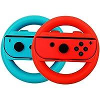 etbotu volante Racing Driver de juegos Gamepad rueda, 1par, para Nintendo Interruptor, rojo- azul