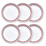 Corelle Livingware 10.25'' 6-Piece Dinner Plate Set, Ruby Red