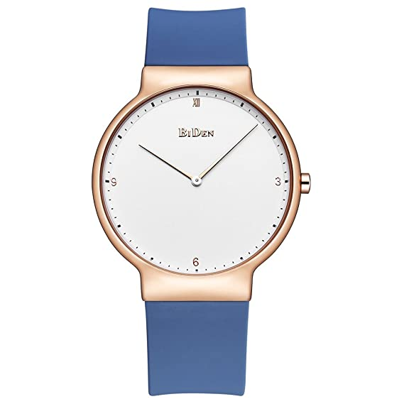 Relojes para mujer, Lady Simple Fashion Design Casual Business Dress Reloj de pulsera de silicona
