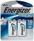 EnergizerUltimate 9 Volt Batteries, Lithium 9v Battery (2 Count) L522BP-2