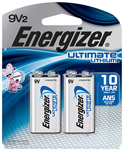 - Energizer Ultimate Lithium 9V Batteries, 2-Count