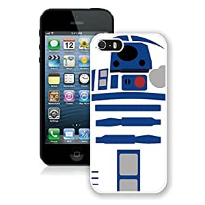Fashionable And Unique Designed Case With tar Wars R2D2 Robot White For iPhone 5 5S Phone Case