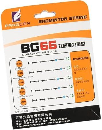 FANGCAN BG66 Cordage pour raquette de Badminton 10 m//5 couleurs Lot de 15
