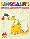 Dinosaurs Preschool Basics Activity Workbook: A Gorgeous Dinosaur Activity and Basic Math Book For Kids Ages 4-8 Fun Kid Workbook Game For Learning, ... Tracing,Shape,More or Less and More!
