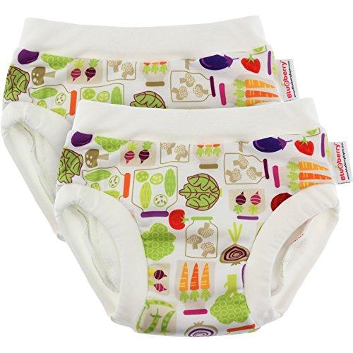 Blueberry Training Pants, Bundle of 2 (Medium, Veggies) (Training Pants Grovia)