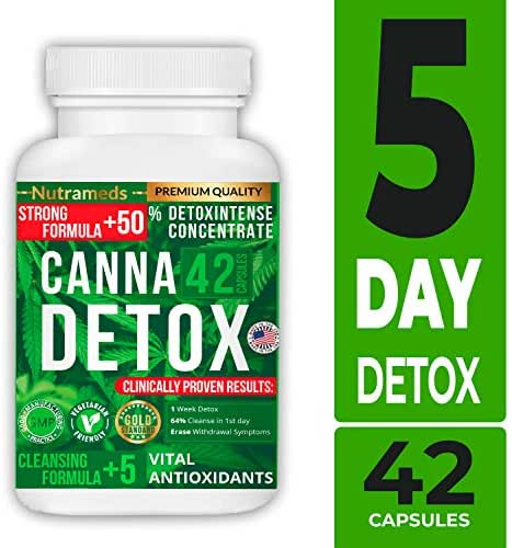 Nutrameds Canna Detox | Strongest, Fastest Acting Total Liver, Kidney, and Blood Cleanse | Detoxifier Toxin Remover Made in The USA 100% Natural Ingredients