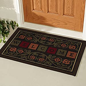 "Ottomanson Ottohome Collection Rectangular Welcome Doormat (Machine-Washable/Non-Slip), Multicolor, 20"" X 30"""