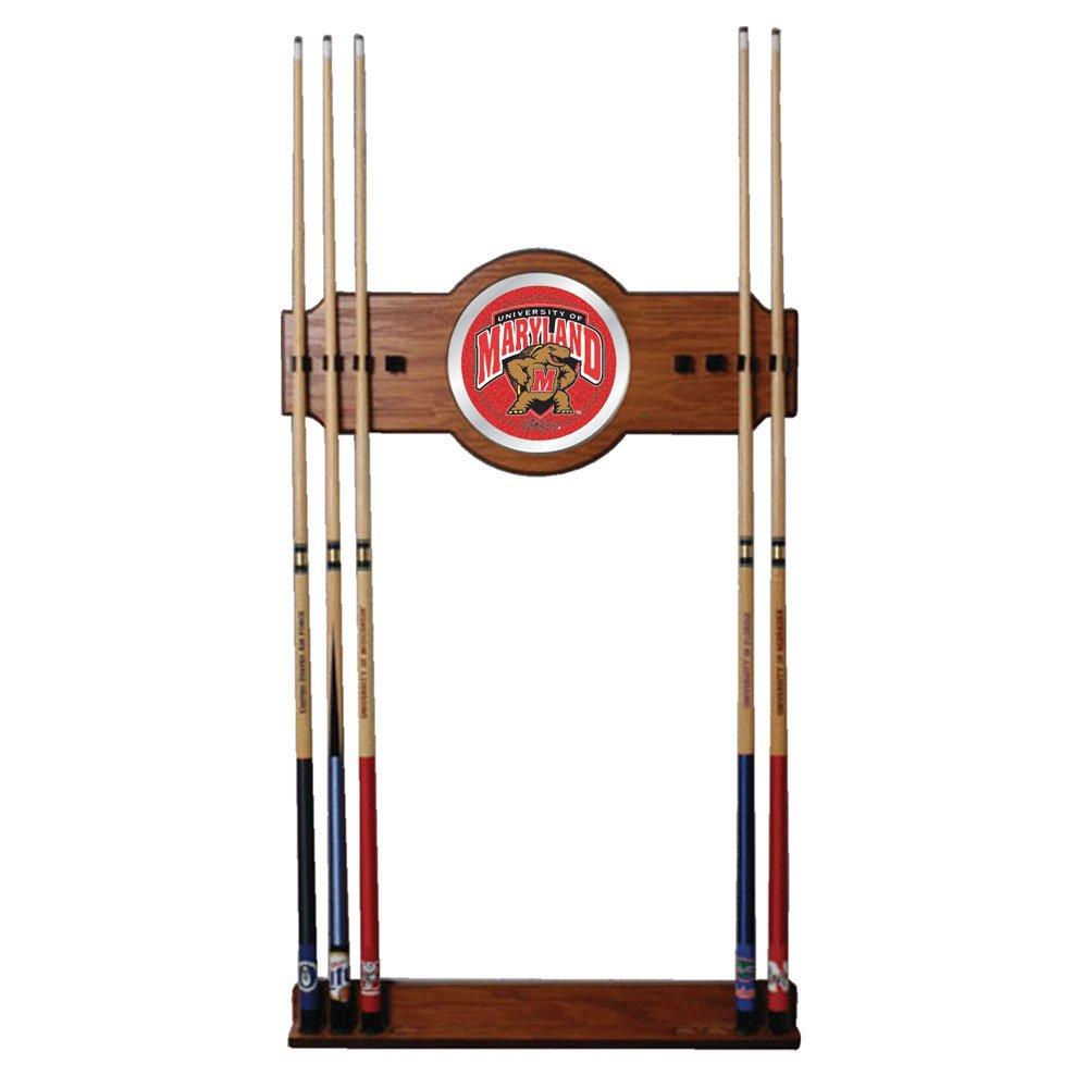 Trademark Gameroom NCAA University of Maryland Billiard Cue Rack with Mirror