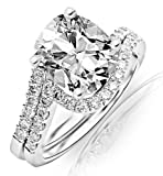 GIA Certified 1.26 Carat Cushion Modified Brilliant Cut/Shape GIA Certified Cushion Cut / Shape 14K White Gold Curving Pave & Prong-set Round Diamond Engagement Ring and Wedding Band Set with a 0.71 Carat, G Color, VVS2 Clarity Center Stone