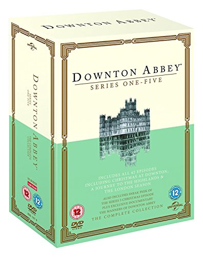 Downton Abbey ITV TV Period Drama Series Complete Season 1,2,3,4 and 5 - All Episodes (19 Discs) DVD Box Set Collection...