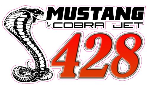 """Mustang Cobra Jet 428 Decal 5"""" in the United States"""