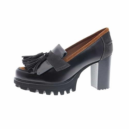 Mocasines Negros tacón y borlas Pedro Miralles 29453: Amazon.es: Zapatos y complementos