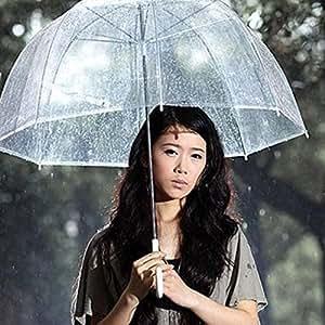 """amoytrade 21""""transparente claro lluvia paraguas sombrilla para boda fiesta de cúpula de PE"""