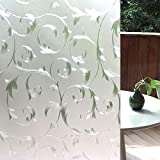 LEMON CLOUD Window Film Privacy Stained Glass Decorative Glass Sticker 35.4In. by 78.7In