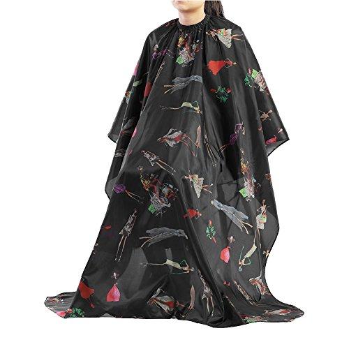 Peluquería Peluquería Peluquería Delaman Salon Negro con Rayas Rojas Capa para Cortar el Cabello para Adulto