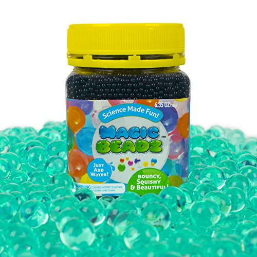 Magic Beadz - Turquoise Gel Water Beads - Transparent Jelly Pearls - Vase Filler - Wedding Centerpiece - Candles - Flower Arrangements - Over 20,000 ()