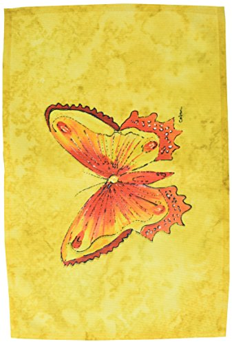 Caroline's Treasures 8857PLMT Butterfly On Yellow Fabric Placemat, Multicolor from Caroline's Treasures