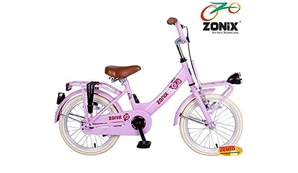 Bicicleta holandesa para niña Zonix 16 pulgadas Rosa: Amazon.es ...