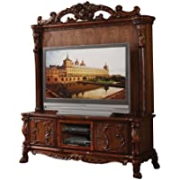 ACME 12163 Dresden Entertainment Center, Cherry Oak Finish